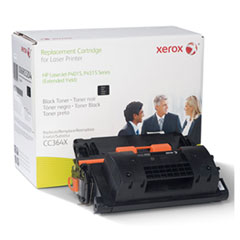 6R3204 (CC364X) Compatible Remanufactured Extended Yield Toner, 40000 Page-Yield, Black