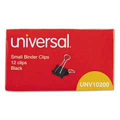 Small Binder Clips, Steel Wire, 3/8   Capacity, 3/4   Wide, Black/Silver
