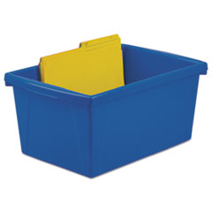 Storage Bins, 10 5/8 x 15 5/8 x 8, 5 1/2 Gallon, Assorted Color, Plastic