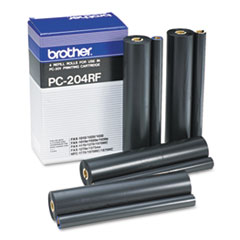 PC204RF Thermal Transfer Refill Roll, Black, 4/PK