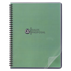 Design View Binding System Covers, 11-1/4 x 8-3/4, Clear, 25/Pack