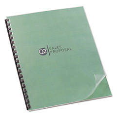 Design View Presentation Binding System Covers, 11 x 8-1/2, Clear, 25/Pack