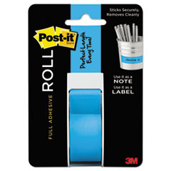 Full Adhesive Label Roll, 1 x 400, Blue, 1/Roll