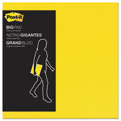 Big Pad, 11 x 11, Bright Yellow, 30-Sheet