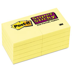 Canary Yellow Note Pads, 2 x 2, 90-Sheet, 10/Pack