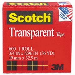 Transparent Tape, 3/4