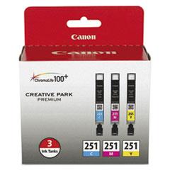6514B009 (CLI-251) ChromaLife100+ Ink, Cyan/Magenta/Yellow