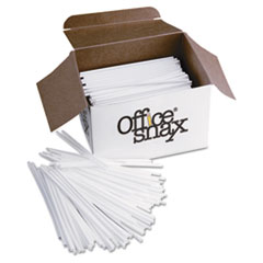 """PLASTIC STIR STICKS, 5"""", PLASTIC, WHITE, 1000/BOX"""