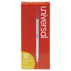 Economy Ballpoint Stick Oil-Based Pen, Red Ink, Medium, Dozen