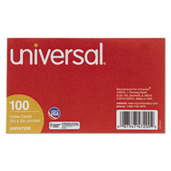 Unruled Index Cards, 3 x 5, White, 100/Pack UNV47200