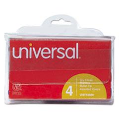Dry Erase Markers, Bullet Tip, Assorted, 4/Set