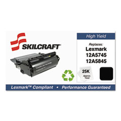 751000NSH0210 Remanufactured 12A5845 High-Yield Toner, Black
