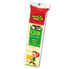 Sandwich Cracker, Club & Cheddar, 8 Cracker Snack Pack, 12/Box KEB21163