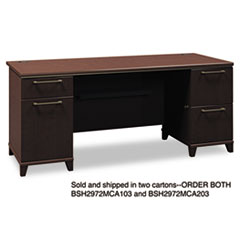 "COU ** 72""W Double Pedestal Desk (B/B/F,F/F) Box 2 of 2 Enterprise: Mocha Che at Sears.com"