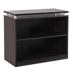 Alera Sedina Series Bookcase, Two-Shelf, 36w x 15d x 30h, Espresso