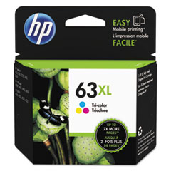 HP 63XL, (F6U63AN) High Yield Tri-Color Original Ink Cartridge