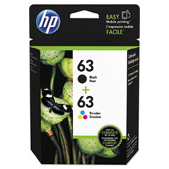 HP 63, (L0R46AN) 2-pack Black/Tri-Color Original Ink Cartridges