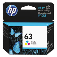 HP 63, (F6U61AN) Tri-Color Original Ink Cartridge