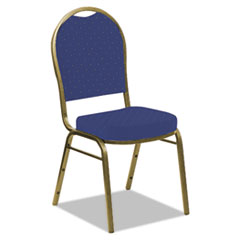 Banquet Chairs with Dome Back, Navy/Gold, 4/Carton