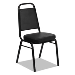 Banquet Chairs with Trapezoid Back, Black/Black, 4/Carton