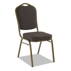 Banquet Chairs with Crown Back, Black/Gold, 4/Carton