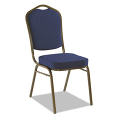 Banquet Chairs with Crown Back, Navy/Gold, 4/Carton