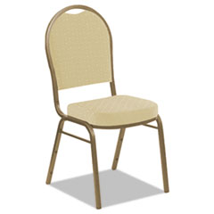 Banquet Chairs with Dome Back, Tan/Gold, 4/Carton