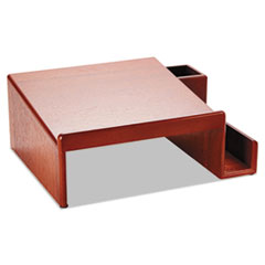 Wood Tones Phone Center Desk Stand, 12 1/8 x 10, Mahogany