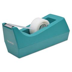 "Desktop Tape Dispenser, 1"" Core, Weighted Non-Skid Base, Emerald"