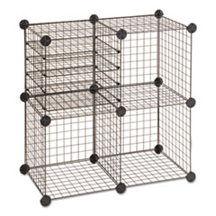 Wire Cube Shelving System, 15w x 15d x 15h, Black SAF5279BL