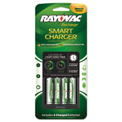 Four-Position LCD Charger, Includes 4 AA Batteries