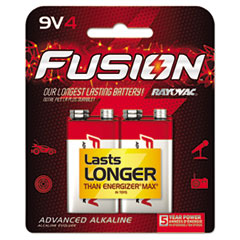 Fusion Performance Alkaline Batteries, 9V, 4/Pk