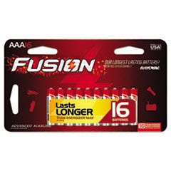 Fusion Advanced Alkaline Batteries, AAA, 16/Pack