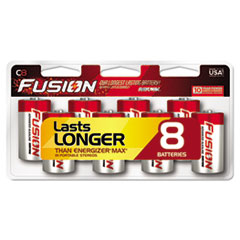 Fusion Advanced Alkaline Batteries, C, 8/Pack