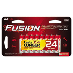 Fusion Advanced Alkaline Batteries, AA, 24/Pack