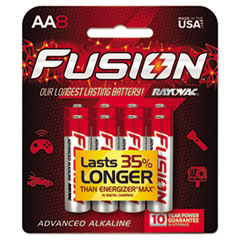 Fusion Advanced Alkaline Batteries, AA, 8/Pack