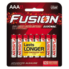 Fusion Advanced Alkaline Batteries, AAA, 8/Pack