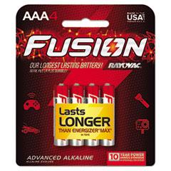 Fusion Advanced Alkaline Batteries, AAA, 4/Pack
