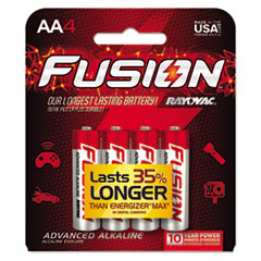 Fusion Advanced Alkaline Batteries, AA, 4/Pack