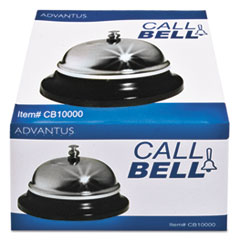 "Call Bell, 3-3/8"" Diameter, Brushed Nickel"