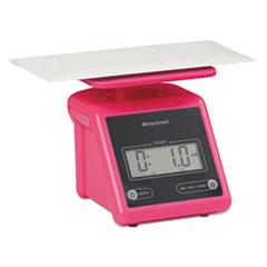 Electronic Postal Scale, 7 lb Capacity, 5 1/2 x 5 1/5 Platform, Pink