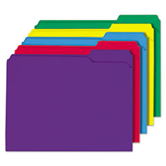 File Folders, 1/3 Cut Double-Ply Top Tab, Letter, Assorted Colors, 100/Box