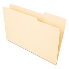 Recycled Interior File Folders, 1/3 Cut Top Tab, Legal, Manila, 100/Box UNV15213