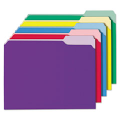 File Folders, 1/3 Cut Single-Ply Top Tab, Letter, Assorted, 100/Box UNV10506