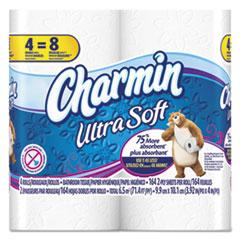 Charmin Ultra Soft Big Roll Toilet Paper, Ultra, 4.5x4.5 in, 176 sht/rl, 4 rl/pk PGC86775PK