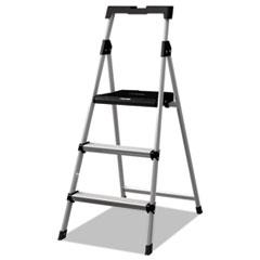 Aluminum Step Stool Ladder, 250lb cap, 20w x 31 spread x 47h DADBXL226003S