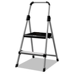 Aluminum Step Stool Ladder, 250lb cap, 18 1/2w x 23 1/2 spread x 38 1/2h DADBXL226002