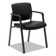 VL605 Guest Chair, Black Leather