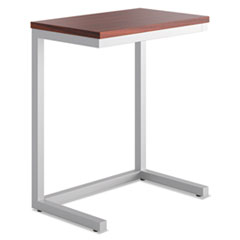 Occasional Cantilever Table, 24w x 15d x 20 3/4h, Chestnut/Silver