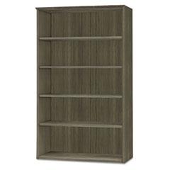 Medina Series Laminate Five-Shelf Bookcase, 36w x 13d x 68h, Gray Steel